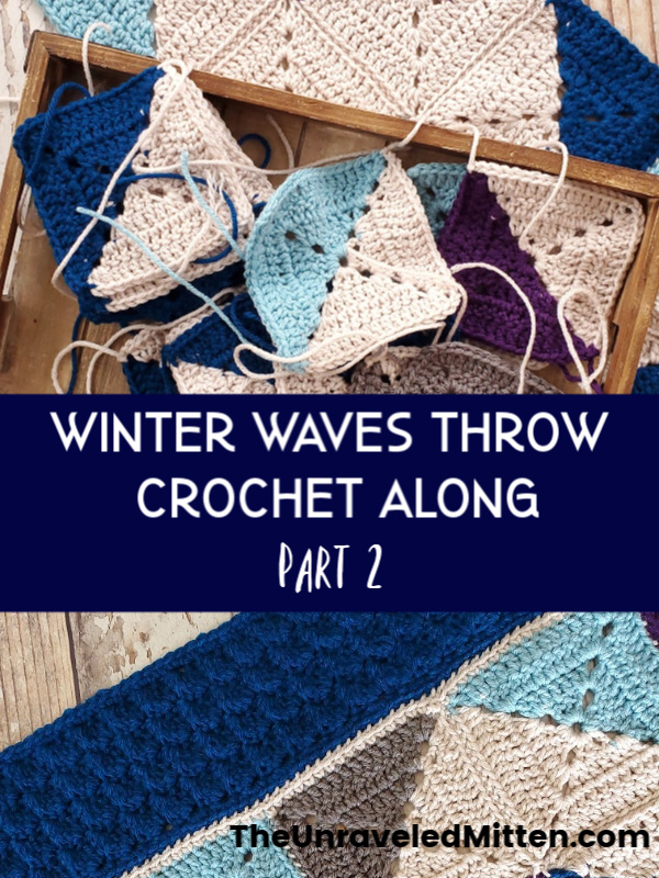 Winter Waves Throw Blanket Crochet Along | The Unraveled Mitten | Join the FREE crochet along today!