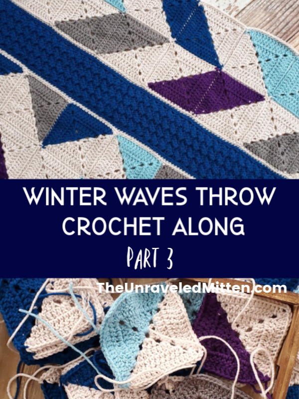 Winter Waves Granny Square Throw Blanket Crochet Along | The Unraveled MItten