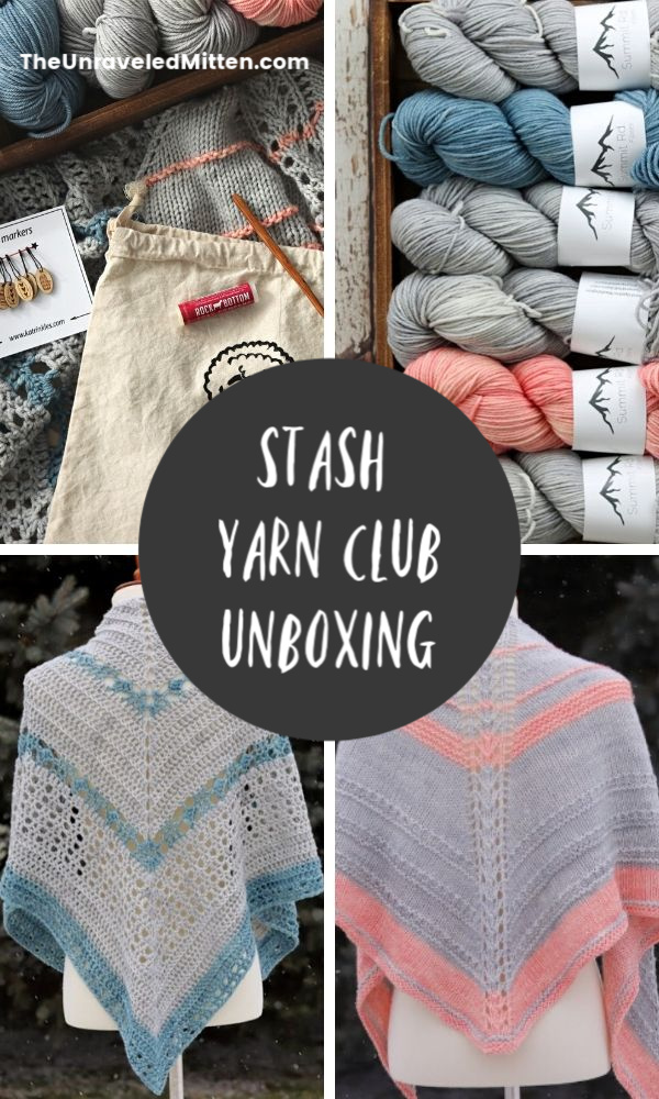 Take a look at what was in the Stash Yarn Club Winter 2020 Yarn Retreat Box. Premium hand dyed yarns, exclusive knit and crochet patterns, a project bag and more!