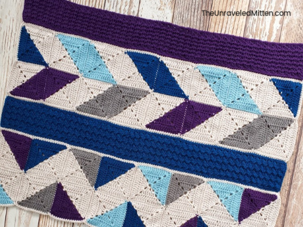 Winter Waves Throw Blanket CAL | Free Crochet Quilt Pattern | The Unraveled Mitten