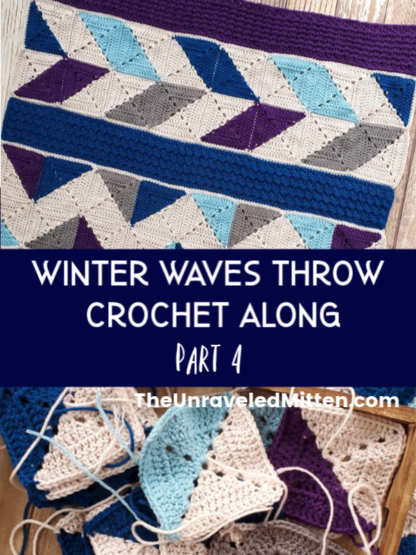 Winter Waves CAL | Quilt Inspired Granny Square Throw Blanket | Free Crochet Pattern | The Unraveled Mitten