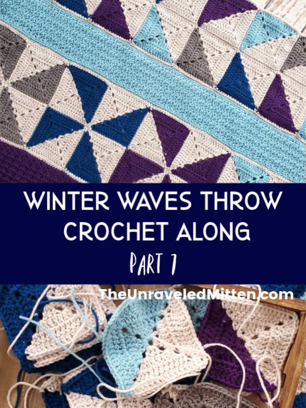Winter Waves Quilt Inspired Crochet Throw Blanket Crochet Along
