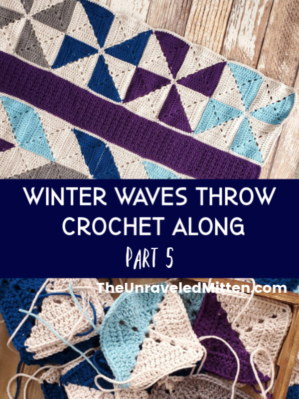 Winter Waves Quilt Inspired Granny Square Throw Blanket