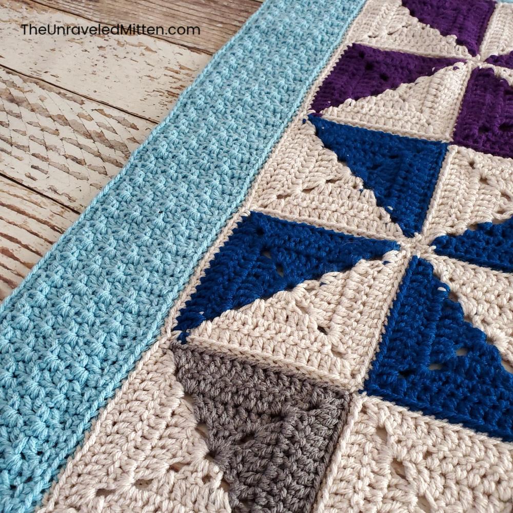 Winter Waves Quilt Inspired Crochet Blanket Pattern