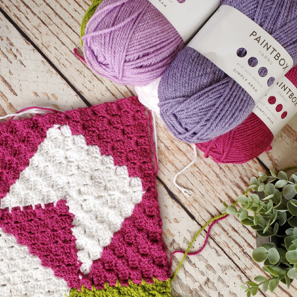 Sweet Lilac Spring CAL - Quilt Inspired C2C Blanket