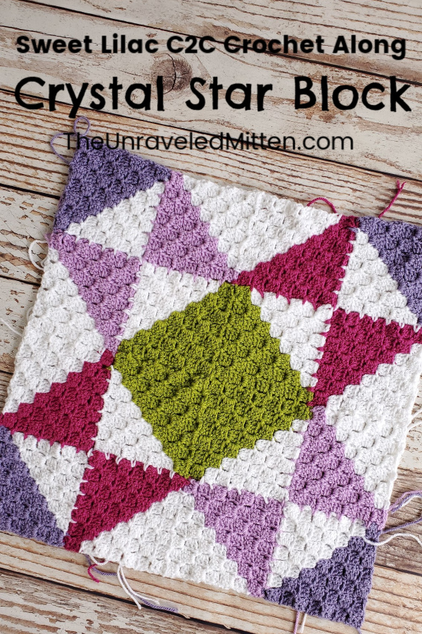 Corner to Corner (C2C) Quilt Square Throw Blanket Crochet Along | Sweet Lilac CAL | The Unraveled Mitten