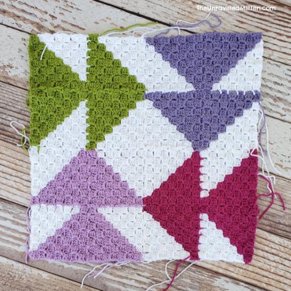 Dutchman's Puzzle Block | C2C Quilt Inspired Blanket