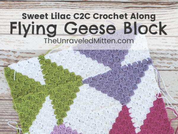 Sweet Lilac C2C Crochet Along
