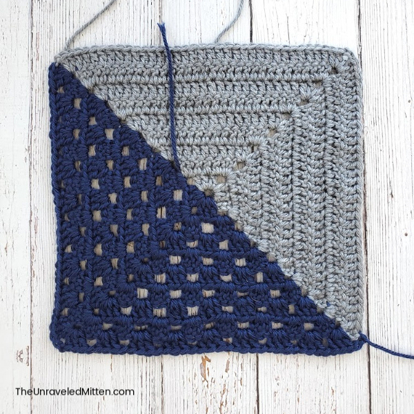 Up North Throw | Mixed Up Granny Square | Quilt Inspired Crochet Pattern | The Unraveled Mitten