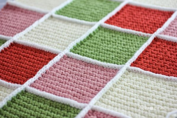 Single Crochet Join for Granny Squares