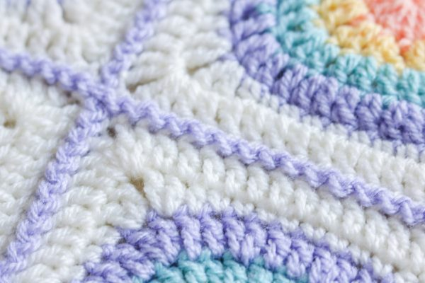 zig zag join for granny squares