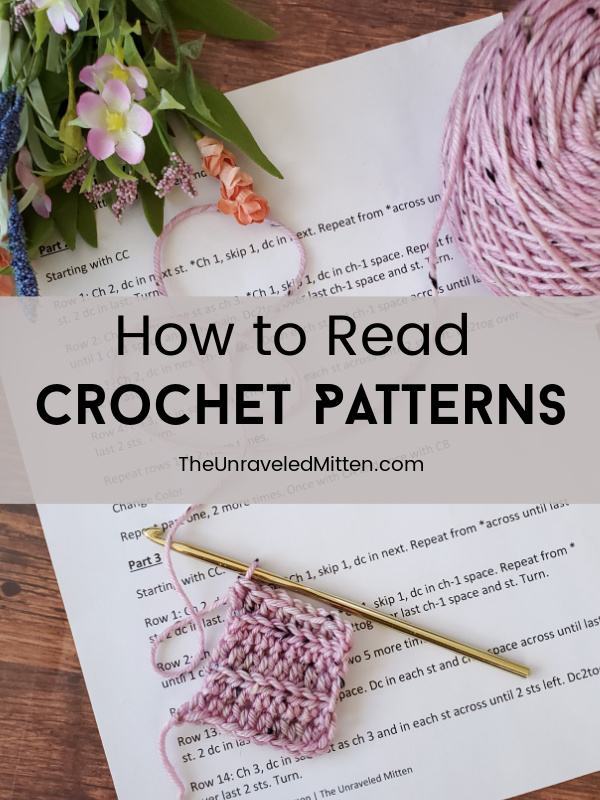 You can read crochet patterns! Read my top tips for deciphering and reading crochet abbreviations, repeats and more. Plus a FREE cheat sheat!