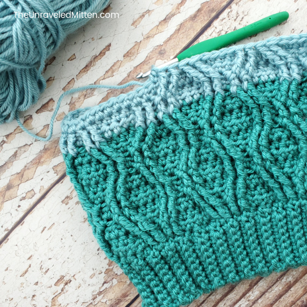 Straits Cable Slouchy Hat In Progress