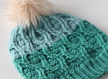 This free Cable Slouchy Hat Crochet pattern uses post stitches to create a trendy cable stitch design that will keep your head nice and cozy this winter.
