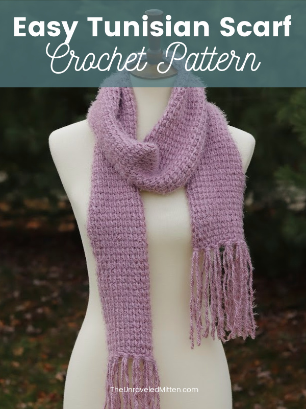 Easy Tunisian Crochet Scarf Pattern