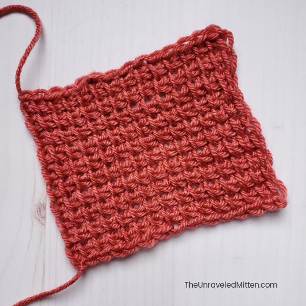 Tunisian Simple Stitch Swatch