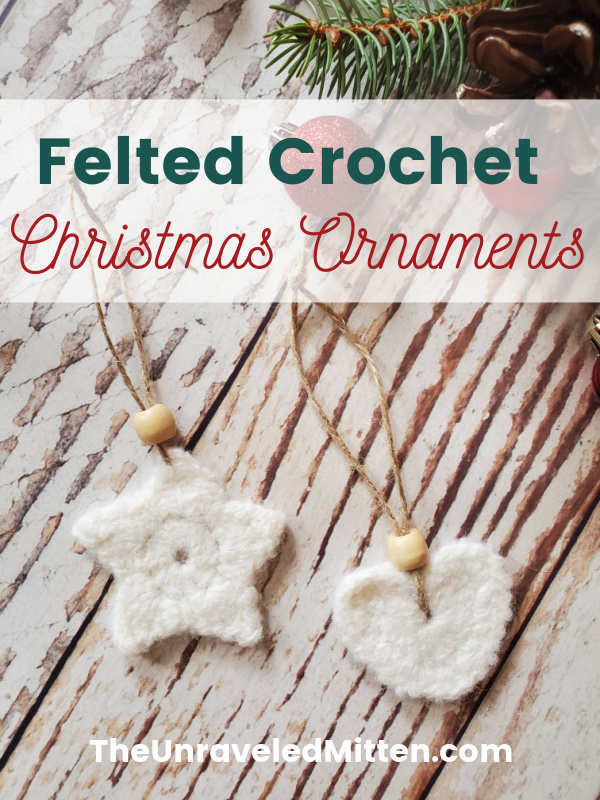 Felted Crochet Christmas Ornaments
