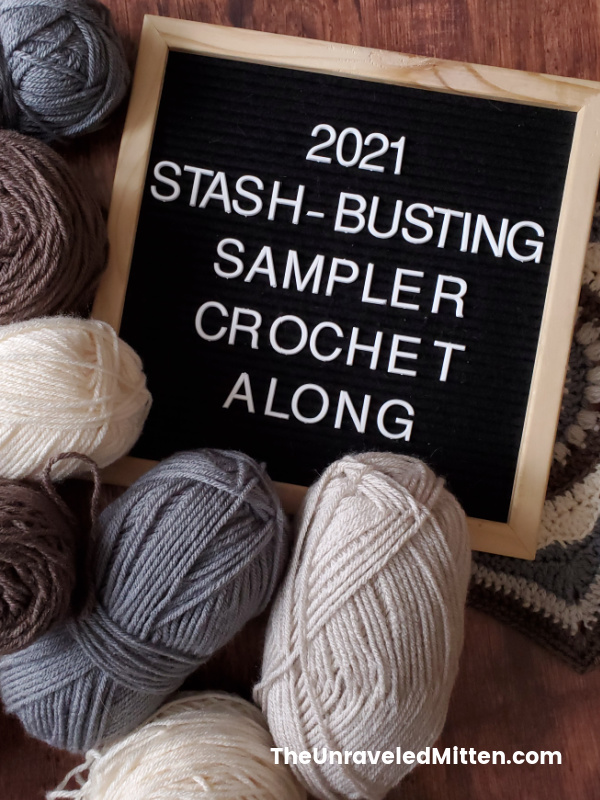 2021 Stash Busting Sampler Afghan Crochet Along - 20 squares, 18 different designers, a year of fun!