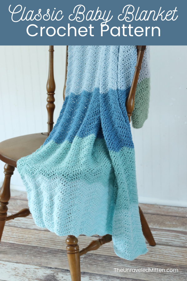 This easy ripple stitch crochet baby blanket pattern is timeless gift for new baby.