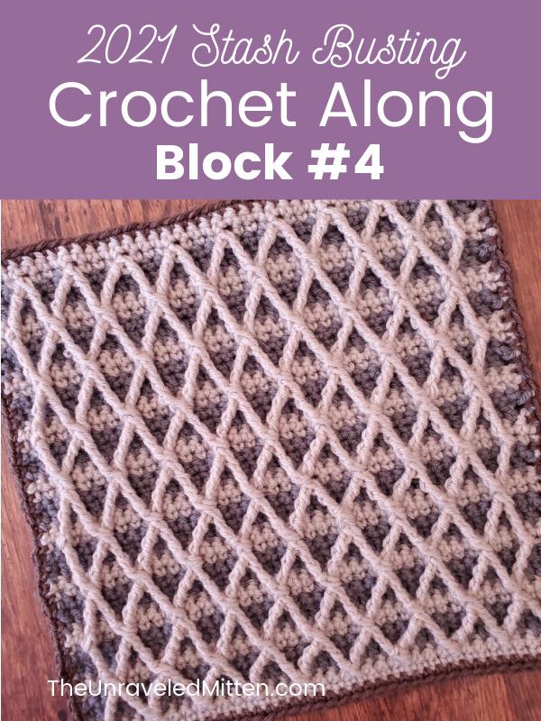 2021 Stash Busting Crochet Along Block #4 by RV Designs.
