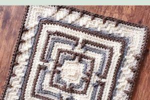 2021 Stash Busting Crochet Along Block #5 | Hidden Sanctuary Square by Oombawka Design