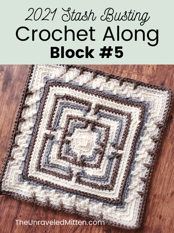 2021 Stash Busting Crochet Along Block #5 | Hidden Sanctuary Square by Oombawka Design