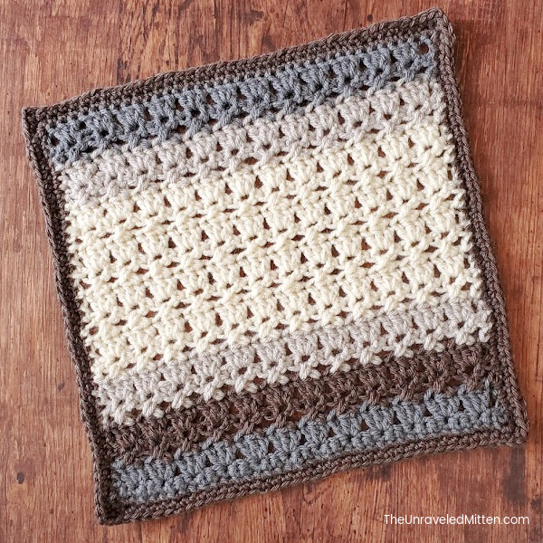 2021 Stash Busting Crochet Along Block #7 | Dragonfly Square by Ashley Leither from Leither Co.