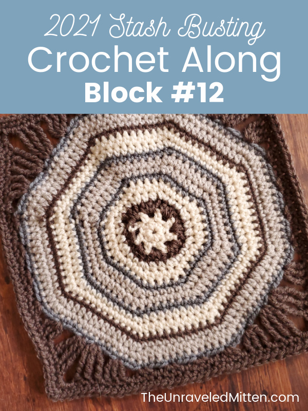 2021 Stash Busting Crochet Along - Block #12 designed by Yarn Craftee | The Unraveled Mitten