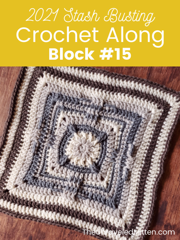 Shooting Start by Block by The Stitchin' Mommy. Featured pattern in the 2021 Stash Busting Crochet Along on The Unraveled Mitten.