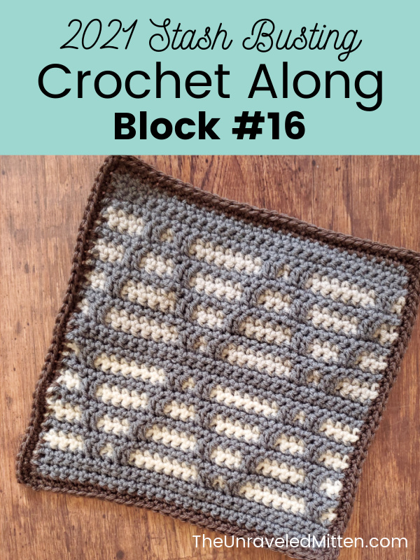 2021 Stash Busting Crochet Along Block 16 Designed by Loops and Love Crochet