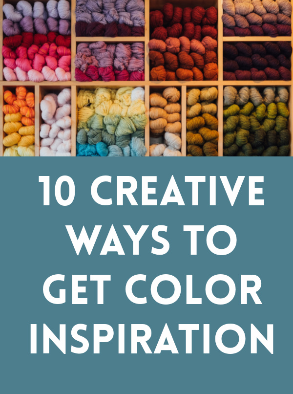 Can't decide on colors for your next crochet project? Here are my top ways to get color inspiration.  There are color palettes and schemes everywhere!
